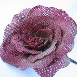 Colored Burlap Rose