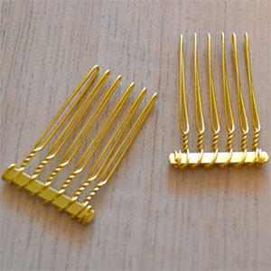 Small Gold Plated Veil Combs