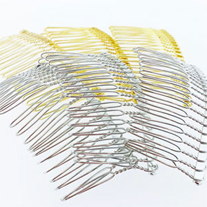 Three inch metal veil combs.