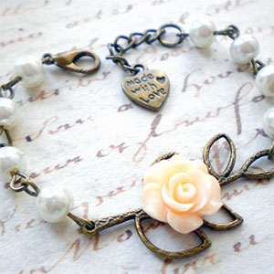 Made with Love Flower Girl Bracelet