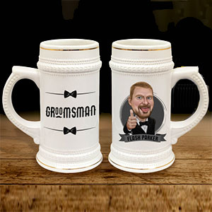Personalized Beer Mug Stein Cartoon