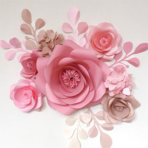 Unique Paper Flowers Backdrop