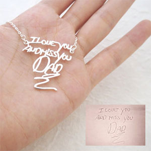 Custom signature or handwriting necklace
