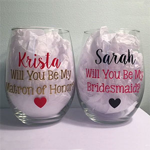 Bridesmaid Proposal Glasses