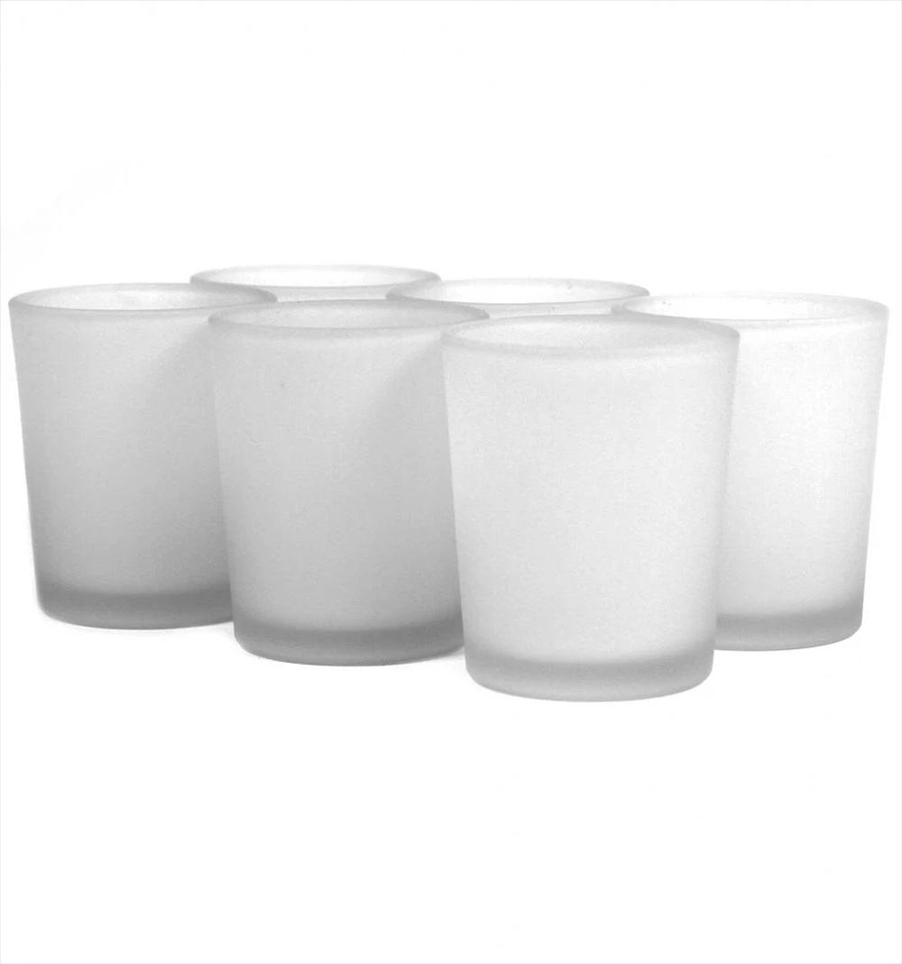 White Votive Candle Holders