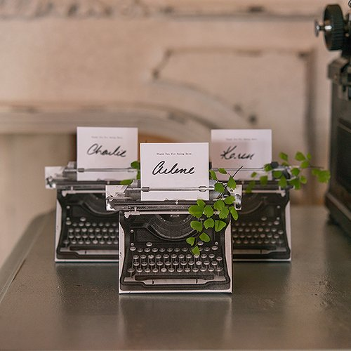 Vintage Typewriter Favor Boxes