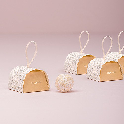 Vintage Button Mini Favor Boxes