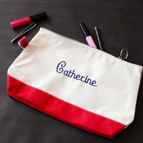 Personalized Canvas Makeup Bag