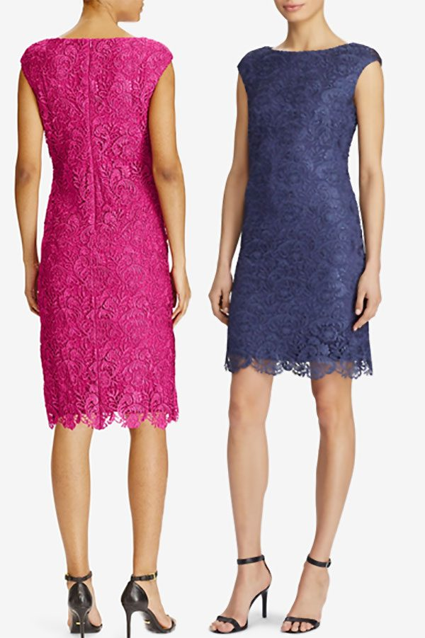 This lace sheath dress is the ideal special occasion dress. It will make a lovely wedding guest outfit. It's shown in blue and rose pink, but also comes in light grey and a darker navy blue. Look for it as the first or second buy listing on the page. In the My Online Wedding Help products section. #SpecialOccasionDresses #WeddingGuestDress #LaceDress #MyOnlineWeddingHelp #LaceDresses #ALineDress #WomensDresses #BlueDress #PinkDress