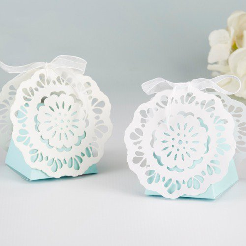 Something Blue Lace Favor Box