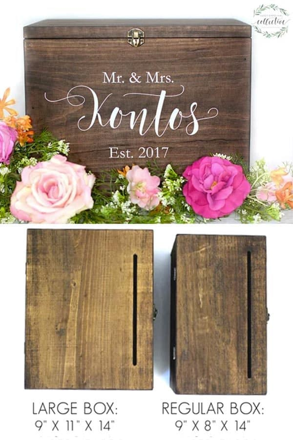 Rustic card box for gift table at the wedding reception. $75.00 But it in the My Online Wedding Help products section. #MyOnlineWeddingHelp #RusticWedding #CardBox