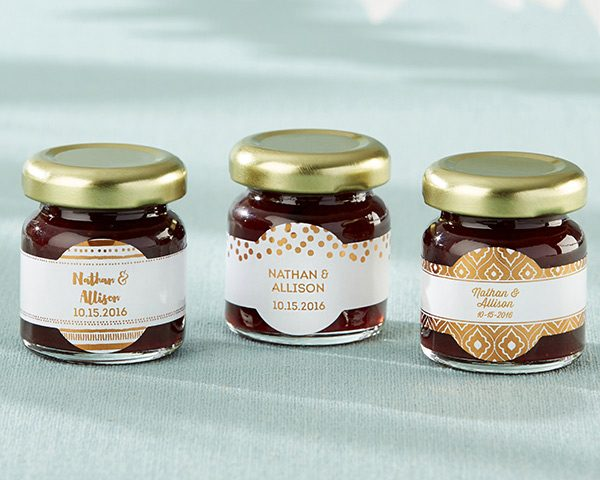 Personalized Copper Foil Strawberry Jam (Set of 12)