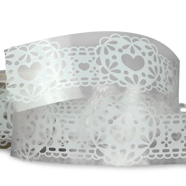 """White Heart Lace Tape 1 1/4"""" X 3' by Ribbons.com"""