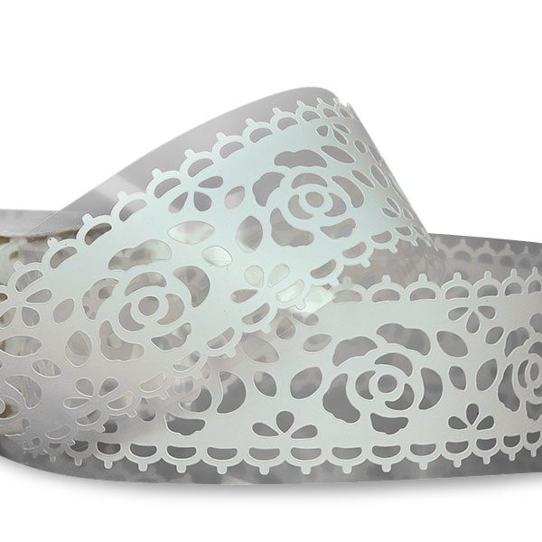 """White Rose Lace Tape 1 1/4"""" X 3' by Ribbons.com"""