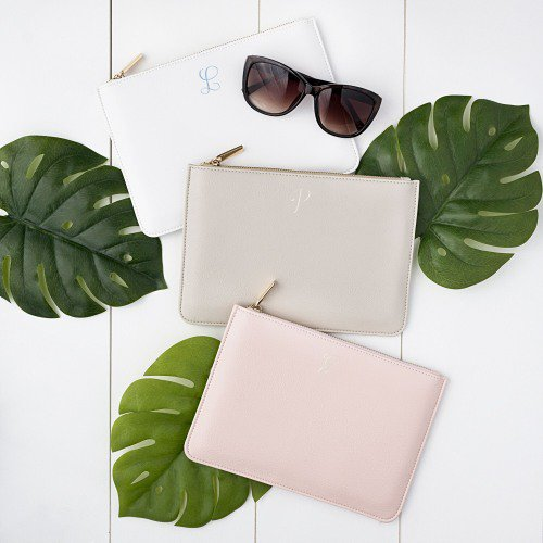 Personalized Vegan Leather Clutch