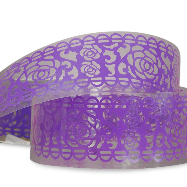 """Lace Purple Rose Washi Tape 1 1/4"""" X 3' by Ribbons.com"""