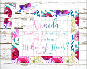 Personalized Matron Of Honor Puzzle Puzzle Proposal Asking Matron of Honor Wedding Announcement Ideas P0061