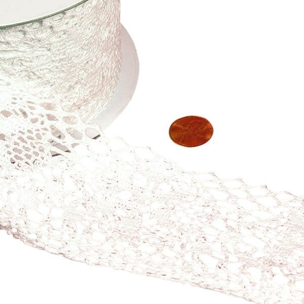 Cotton Lace Trim 10 Yards by Ribbons.com | Width: 2 3/4""
