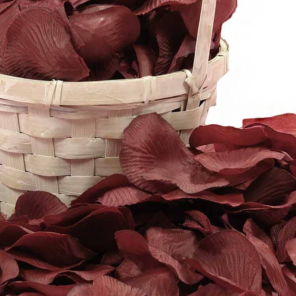 Silk Wine Rose Petals by Ribbons.com