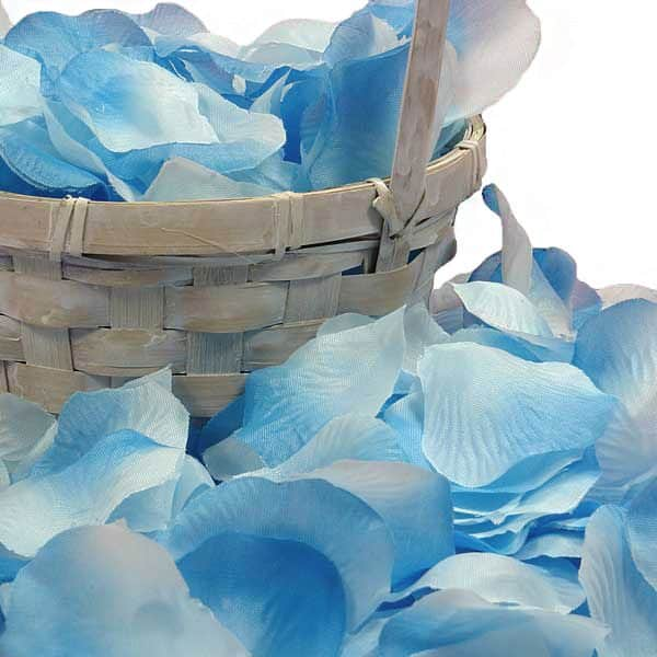 Silk Turquoise Rose Petals by Ribbons.com