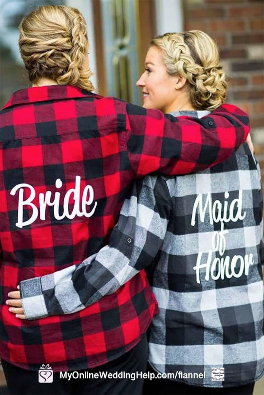 Rustic Bride and Maid of Honor Bridesmaids Shirts