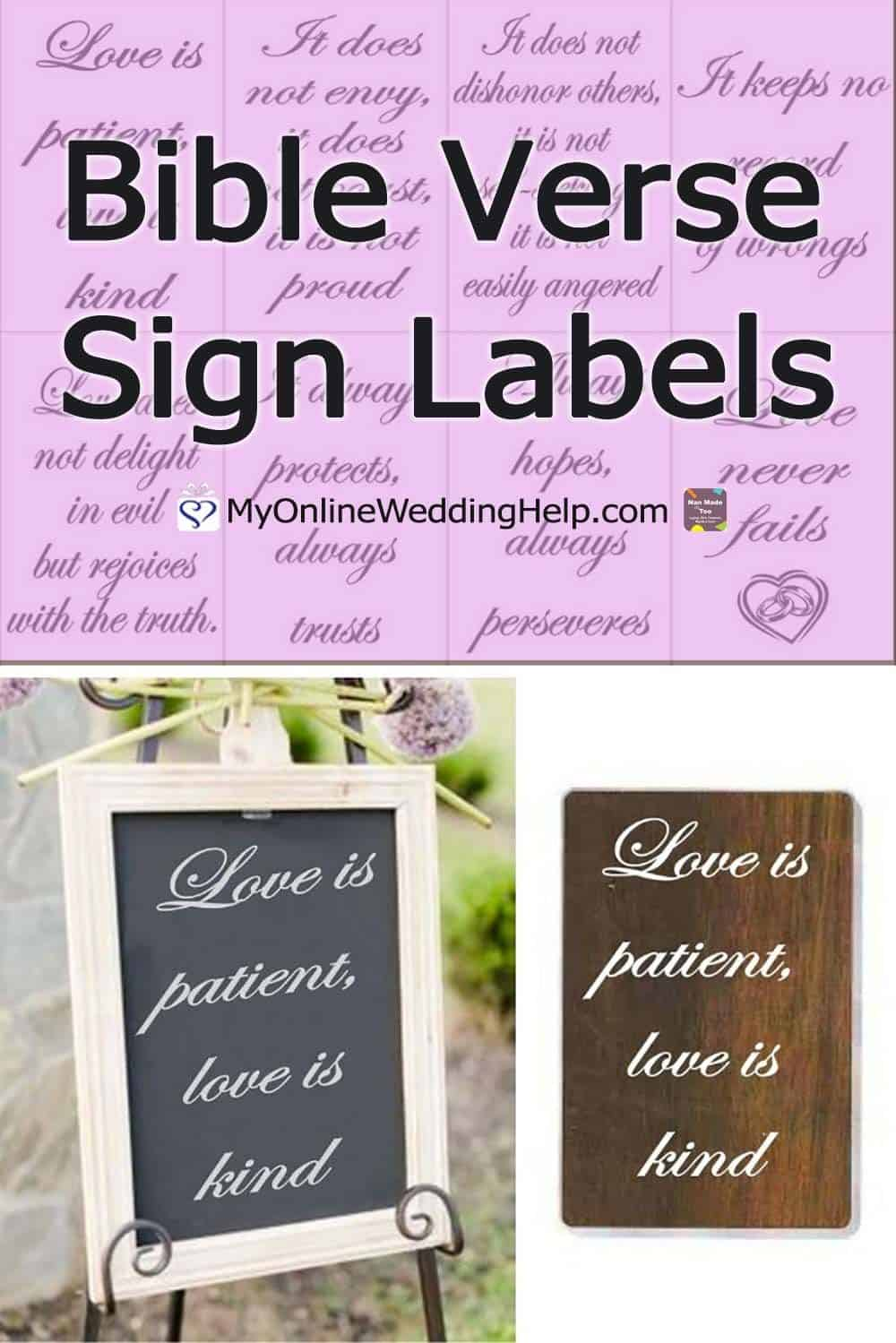 1 Corinthians Bible Verse Sign Labels Vinyl