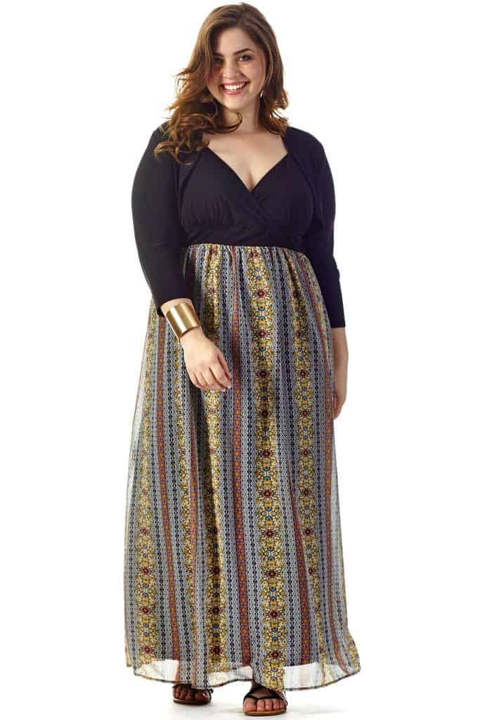 Celebrations Plus Size Mroxanna Maxi Dress