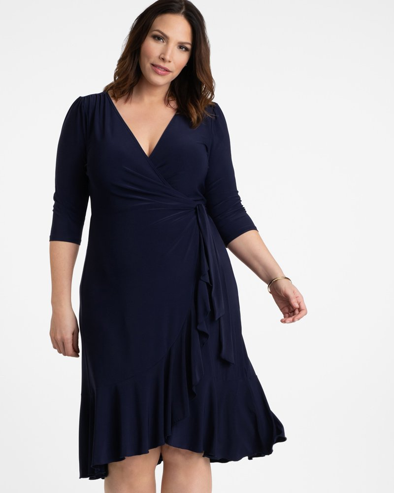 Kiyonna Womens Plus Size Whimsy Wrap Dress