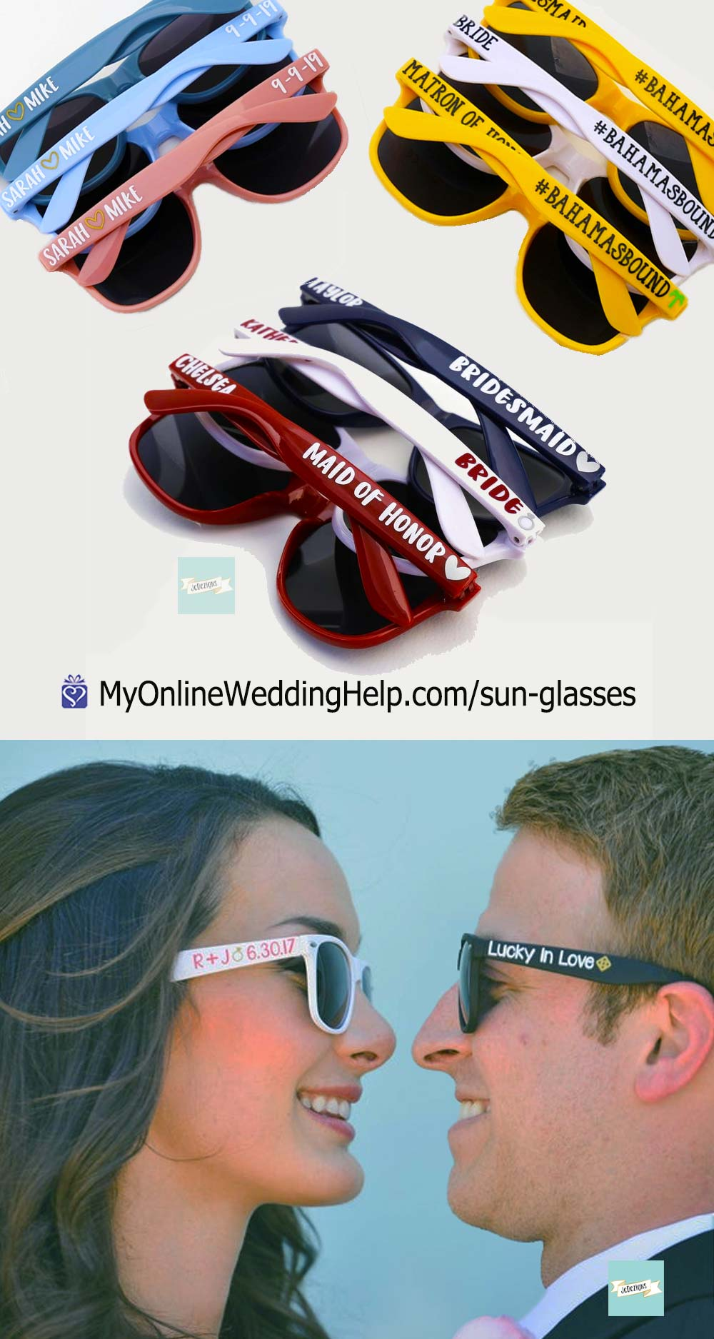 Wedding Sunglasses Favors or Gifts