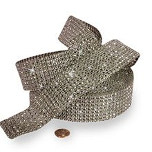 Mesh Sparkle Rhinestone Silver Jewel Ribbon - 1-1/2 X 9yd - Cords by Paper Mart