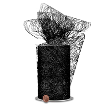 Black Lace yd - 6 X 25 - Fabric - Width: 6 by Paper Mart