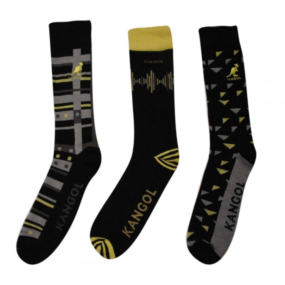 Yellow Soundwave Sock - 3 Pack