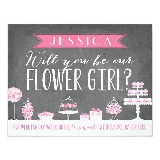 Will You Be Our Flower Girl Bridesmaid Invitation