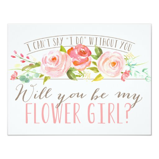 Will You Be My Flower Girl Bridesmaid Invitation