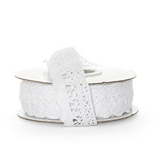 White Cotton Lace Trim - 1-1/4 X 10 Yards - Ribbon by Paper Mart