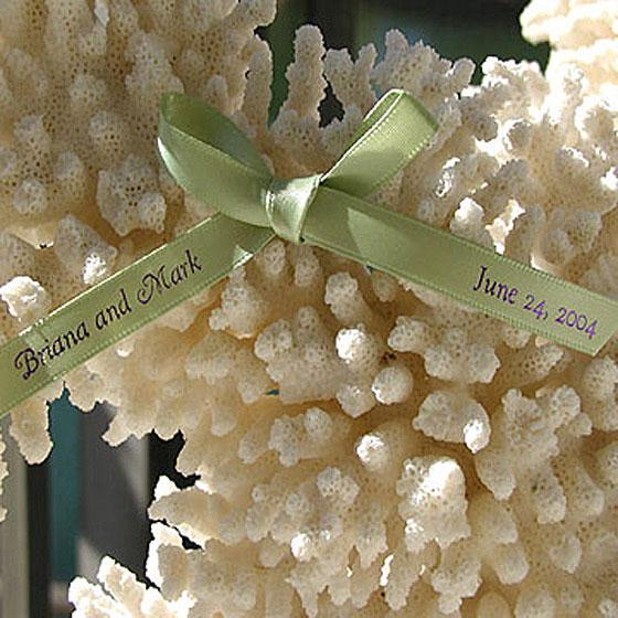 """Personalized Ribbon (Double Face Satin Pre-Cut 14"""" lengths)"""