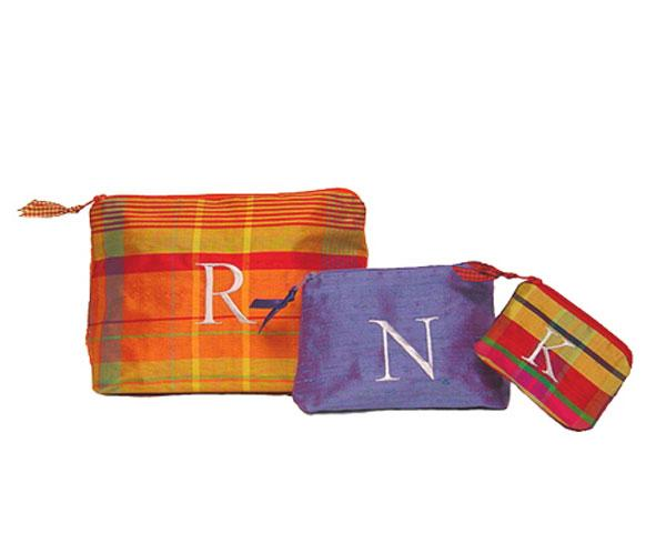 Mad About Plaid Personalized Cosmetic Bags