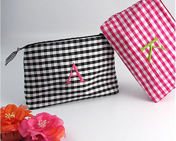 Gorgeous Gingham Personalized Cosmetic Bag