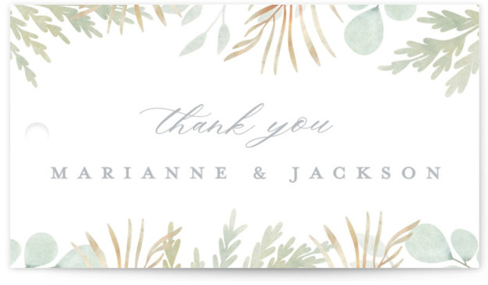 In The Fall Wedding Favor Tags
