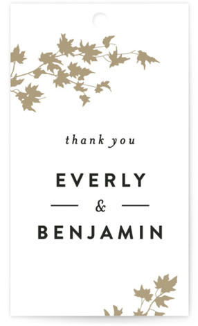 Autumn In New York Wedding Favor Tags