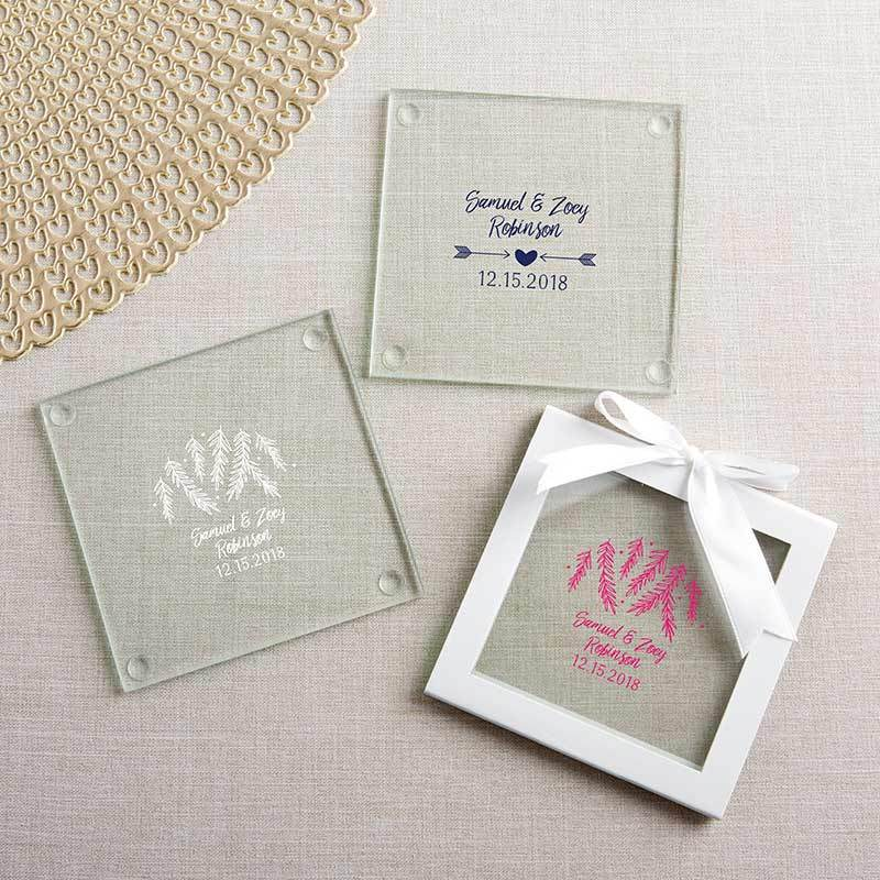 Personalized Winter Glass Coaster (Set of 12)