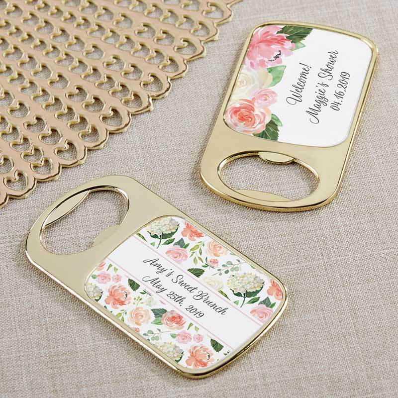 Personalized Brunch Gold Bottle Opener