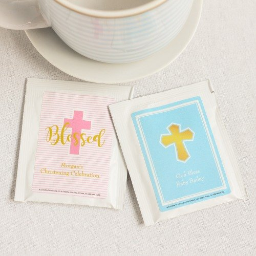Personalized Religious Tea Bag Favors