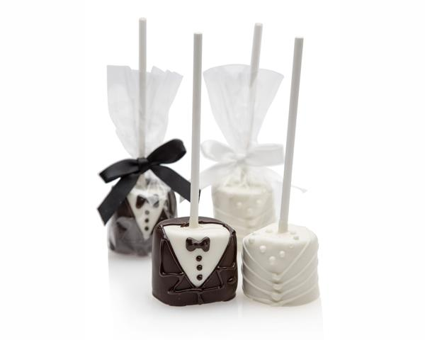Bride and Groom Marshmallow Pops