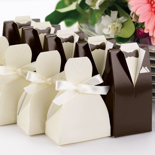Tuxedo and Wedding Gown Favor Boxes