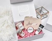 Personalised Rose Gold Bridesmaid Proposal Gift Box, Luxury Filled Thank You Bridesmaid Box, Bridesmaid Gift Set, Wedding Thank You Gifts,