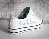 Wedding Converse vinyl, iron on transfer stickers, Bridal trainers, comfy wedding shoes, Bride, Bachelorette, vans, Toms, Wedding sneakers