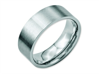 Chisel Stainless Steel Flat 8mm Brushed Weeding Band