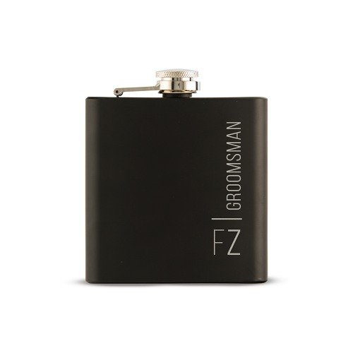 Personalized Black Coated Flask