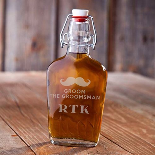 Personalized Vintage Glass Flask